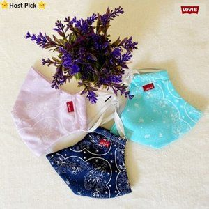 LEVI'S 3 Pack Fabric Face Masks w/ Filter Pockets